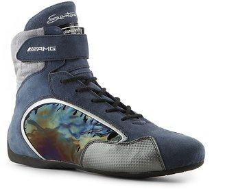 Santoni Suede Velcro Sneaker