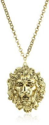 Yochi Lion Head 14k Gold Plated Necklace