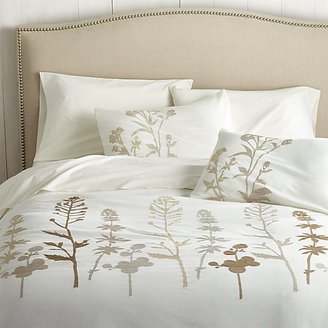 Crate & Barrel Woodland Natural Duvet Covers and Pillow Shams