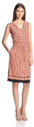 Anne Klein Women's Medallion-Print Dress
