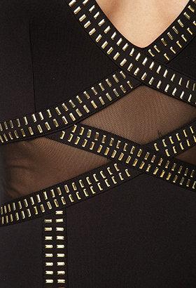 Forever 21 Mesh Paneled Bodycon Dress