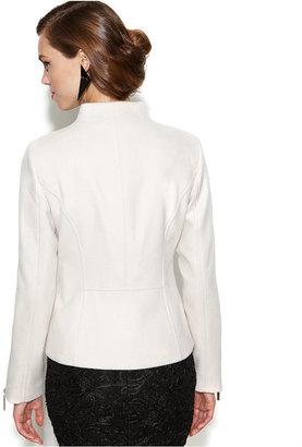 Kensie Asymmetrical Wool-Blend Coat