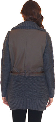 Heartloom Holly Army Sweater Jacket in Combo