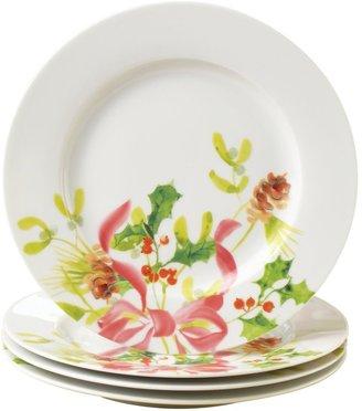 Paula Deen Signature Christmas Wreath Salad Plates (Set of 4)