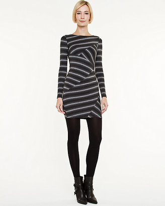 Le Château Multi-stripe Rayon Jersey Dress