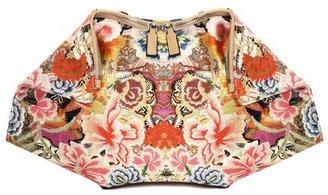 Alexander McQueen Patchwork Floral De Manta Clutch