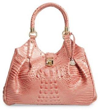 Brahmin Elisa Croc Embossed Leather Shoulder Bag - Pink $395 thestylecure.com