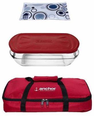 ANCHOR 3 Qt. Glass Bakeware Set
