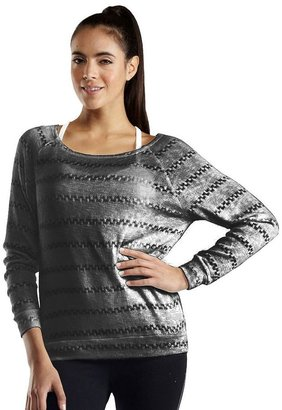 Free society striped raglan pullover - women's
