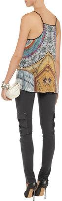 Alice + Olivia Low-rise skinny cargo jeans