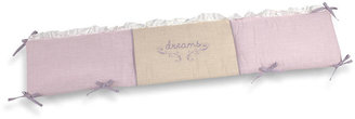 Wendy Bellissimo Crown Craft Sweet Baby Dreams 4-Piece Secure-Me Crib Bumper - Pink/Linen