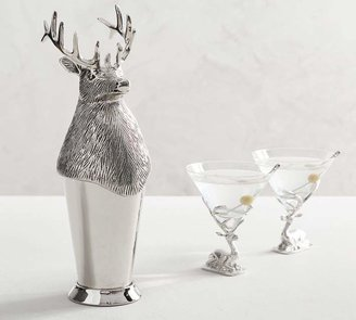 Pottery Barn Stag Cocktail Shaker