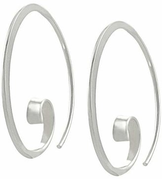Journee Collection Sterling Silver Unique Spiral Hoop Earrings - Silver