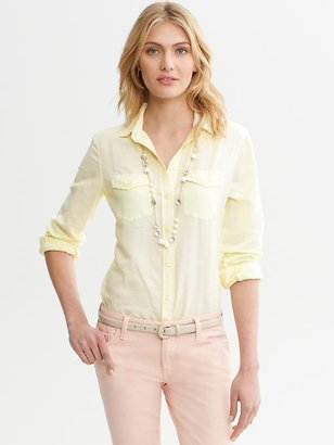 Banana Republic Soft-Wash Linen-Cotton Shirt