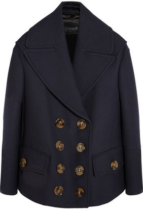 Burberry - Wool And Silk-blend Coat - Storm blue $2,995 thestylecure.com