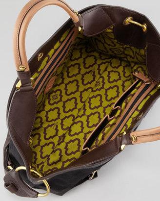 Oryany Kelly Calf Hair Satchel Bag, Black
