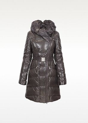 Forzieri Brown Quilted Leather Coat