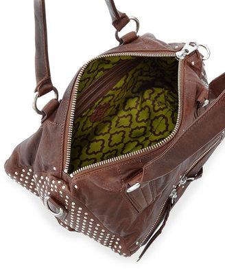 Oryany Dora Studded-Side Satchel Bag, Brown