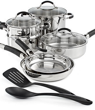 Cuisinart CLOSEOUT! Stainless Steel 11 Piece Cookware Set