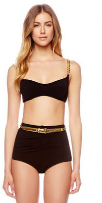 Michael Kors Chain-Strap Two-Piece Swimsuit