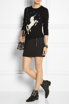 Lulu & Co Unicorn-intarsia wool sweater