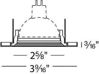 W.A.C. Lighting 2.5 Inch Low Voltage HR-836 Metal Trim