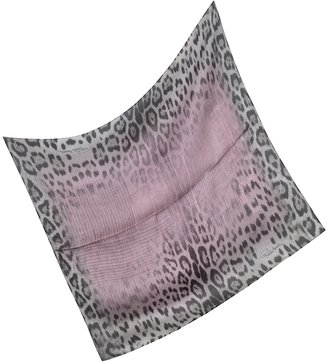 Roberto Cavalli Animal Print Silk Square Scarf