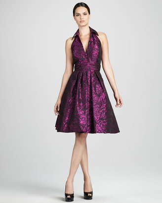Theia Shimmery Jacquard Cocktail Dress