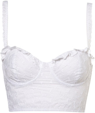 Topshop White Broderie Anglaise Bralet