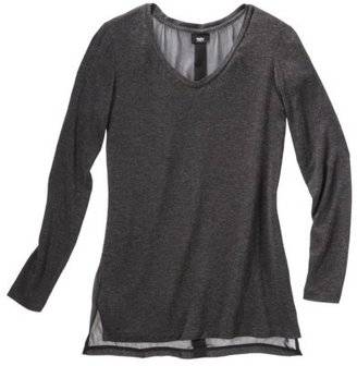 Mossimo Womens Longsleeve Chiffon Back Sweater - Assorted Colors