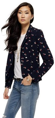 Juicy Couture Petal Print Blazer
