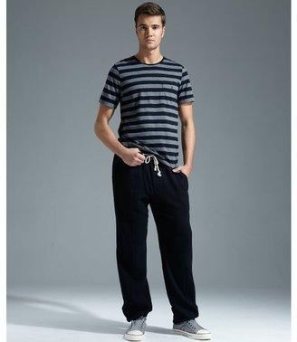 Trovata black cotton woven 'Cardiff' drawstring pants