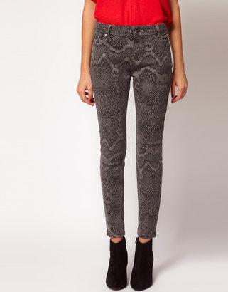 Whistles Snakeskin Printed Skinny Jean