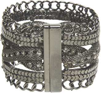 Wet Seal Braided Mesh Magnetic Bracelet