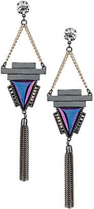 Topshop Triangle Chain Drop Earrings
