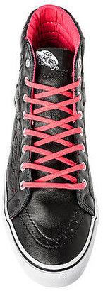 Vans Footwear The Sk8-Hi Slim Sneaker in Black Leather Hearts