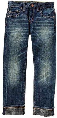 Gap 1969 Plaid Brush Back Straight Jeans