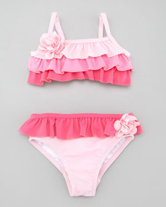 Juicy Couture Ruffle Two-Piece Swimsuit