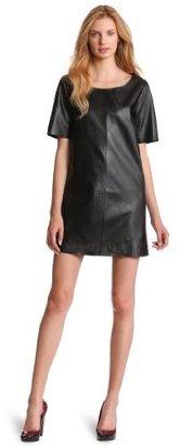 Cynthia Rowley Women's Leather Chemise Dress