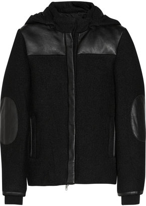Vanessa Bruno Wool-blend and leather jacket