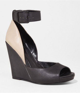 Express Buckled Ankle Strap Wedge Sandal