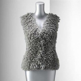 Vera Wang Simply vera faux-fur vest