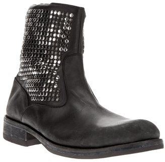 HTC Italy studded biker boot