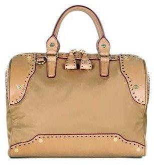 "M Z Wallace Jesse"" Tan Nylon & Leather Handbag"