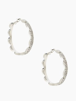 Kate Spade Scallop pave hoops