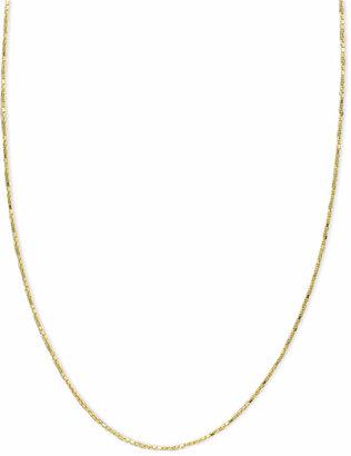 "Macy's 14k Gold Necklace, 16-20"" Diamond Cut Box Chain (5/8mm)"