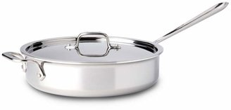 All-Clad Stainless Steel 4-Quart Sauté Pan with Lid