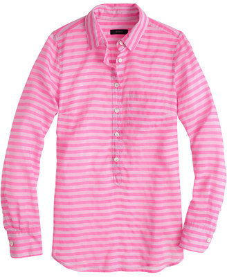 J.Crew Stripe cotton-silk popover