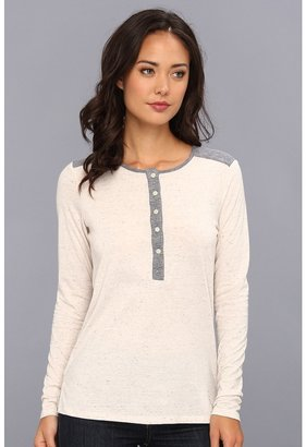 C&C California Triblend Mix L/S Henley Women's Long Sleeve Pullover