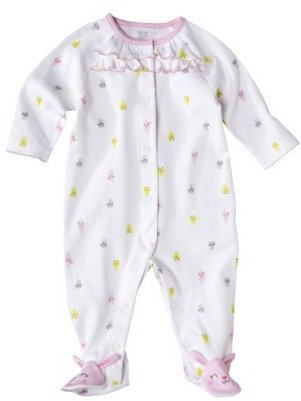 Carter's JUST ONE YOU® Made by Infant Girls' Interlock Sleep N' Play - White/Light Pink